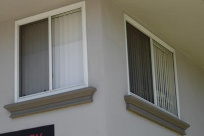 Stucco  Exterior Window Sill