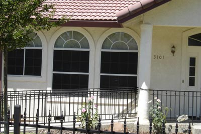Stucco Arches, Stucco Columns