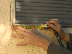 Measuring a window sill