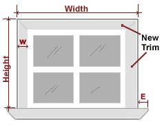 Window Sill Measurement Instructions
